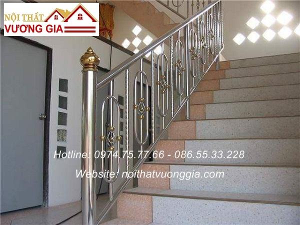 cầu thang inox nghệ thuật nội thất vương gia