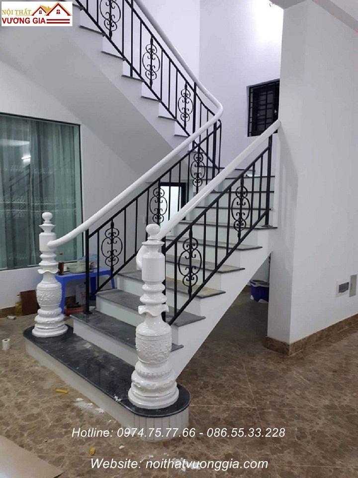 cầu thang đẹp cho nhà ống -nội thất vương gia
