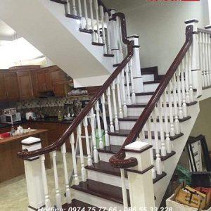 cầu thang gỗ hiện đại - nội thất vương gia 2