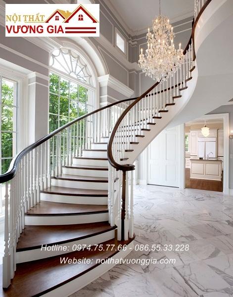 Cầu thag gỗ cổ điển nội thất vương gia