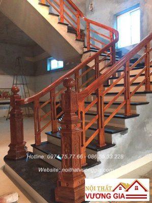 Cầu thag gỗ hiện đại nội thất vương gia