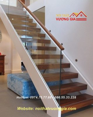 Cầu thang xương cá phong cách-nội thất vương gia