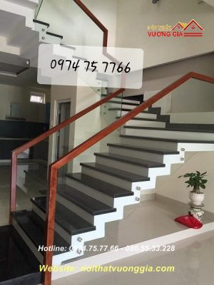 cầu thang kính cường lực tại đống đa hà nội