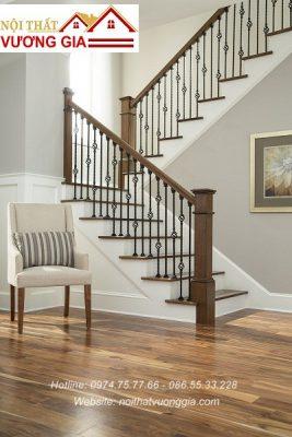 Cầu thang sắt quả trám nội thất vương gia