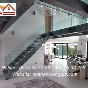 Cầu thang xương cá hiện đại nội thất vương gia