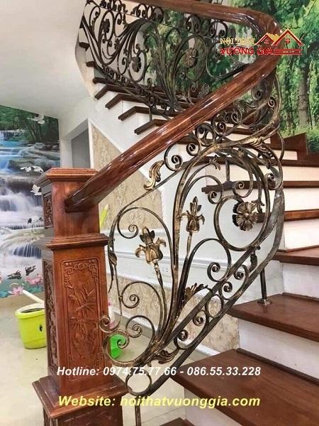 cầu thang sắt nghệ thuật- nội thất vương gia