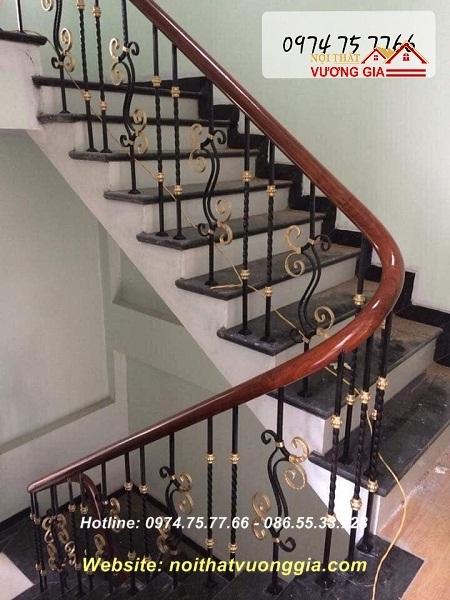 cầu thang sắt song - nội thất vương gia