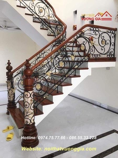cầu thang sắt nghệ thuật,nội thất vương gia