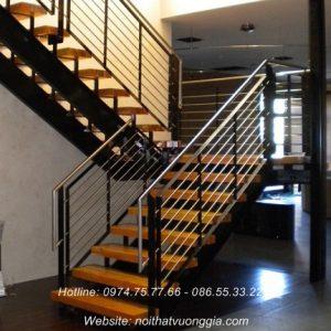 cầu thang inox hiện đại nội thất vương gia