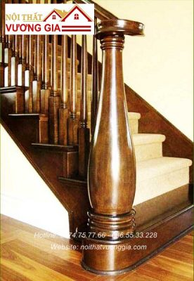 Trụ cầu thang nội thất vương gia