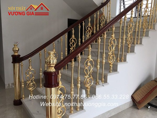 Cầu thang nhôm đúc Nội Thất Vương Gia