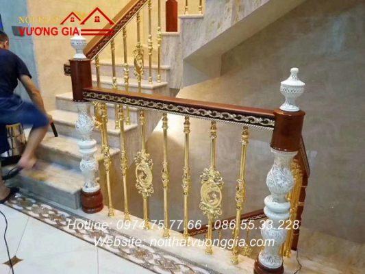 Thi công cầu thang song nhôm đúc tại Vĩnh Phúc