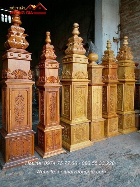 Trụ gỗ cầu thang Nội Thất Vương Gia