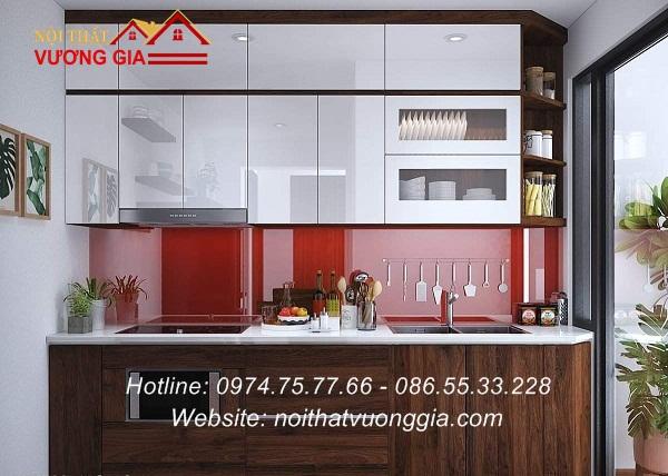 Kính màu ốp bếp tại Sơn Tây Hà Nội