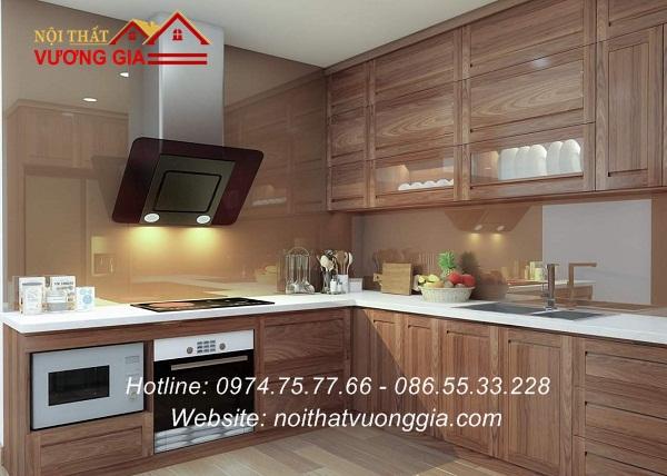Kính màu ốp bếp nội thất vương gia