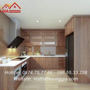 Kính màu ốp bếp tại thạch thất hà nội nội thất vương gia