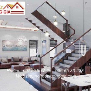 Cầu thang kính cường lực đẹp tại Hà Nội