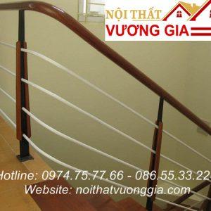 Cầu thang sắt đơn giản đẹp tại Vĩnh Phúc