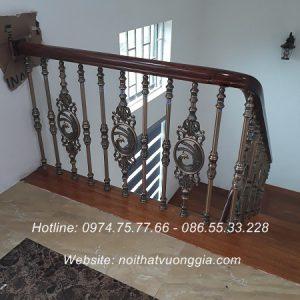 cầu thang song nhôm đúc