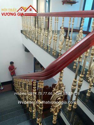 Lan can cầu thang nhôm đúc đẹp