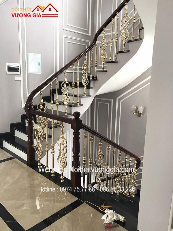 Cầu thang nhôm đúc đẹp nhất