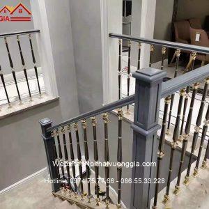 Cầu thang nhôm đúc sang trọng