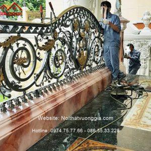 Cầu thang sắt nghệ thuật vip