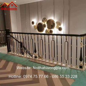 Cầu thang nhôm đúc phong cách Luxury